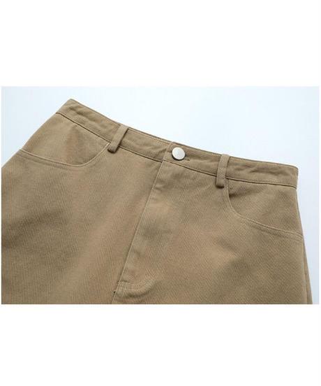 A line color denim skirt/2color