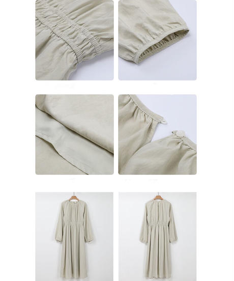 airy long dress/3color