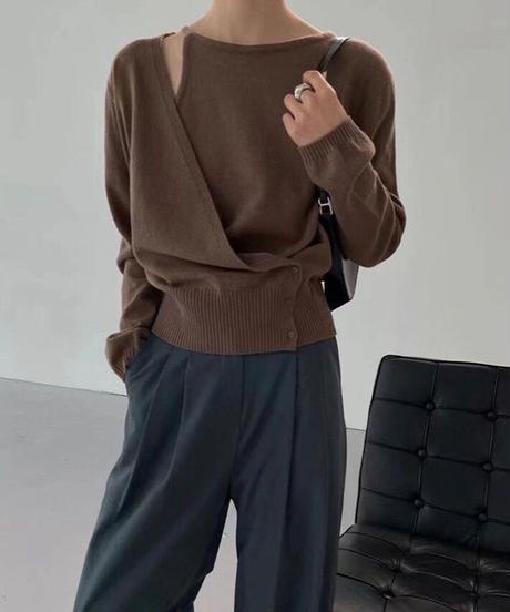 asymmetry design knit/2color