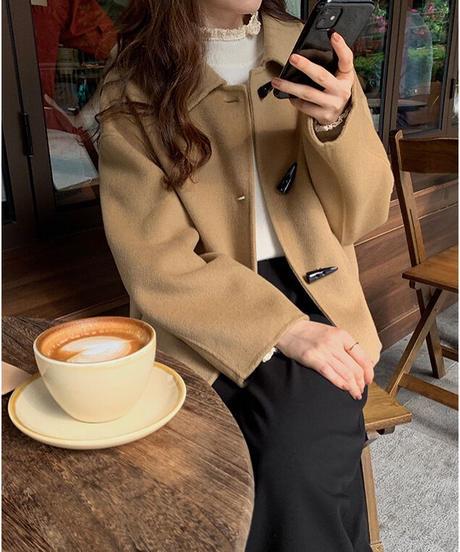 (予約)duffle short coat【wool 100%】