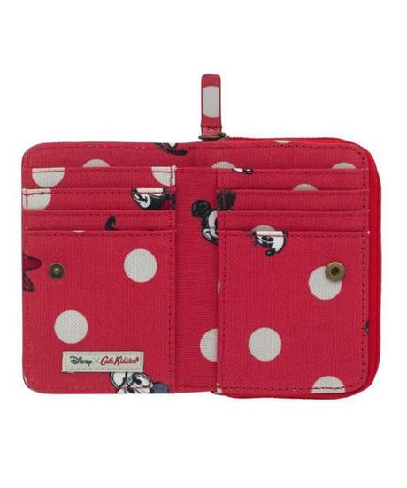 [キャスキッドソン] cath kidston ディズニー ポケットパース ミッキー&フレンズ ボタンスポット Red 734486 財布