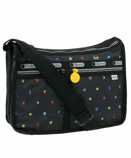 [レスポートサック] lesportsac MR. MEN AND LITTLE MISS Deluxe Everyday Bag in HAPPY LAND 7507 G305 ショルダーバッグ
