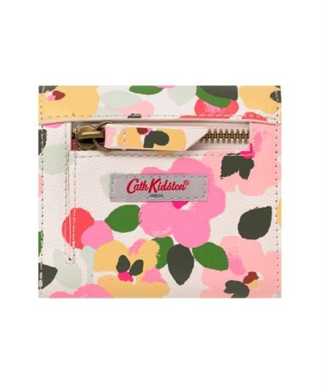 [キャスキッドソン] cath kidston ミディアム エンベロープ ウォレット ペインテッドパンジー Warm Cream 105346516848102 財布