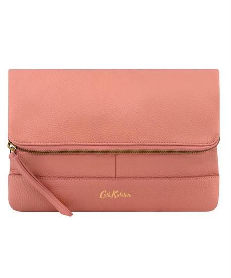 [キャスキッドソン] cath kidston レザーフォールドオーバークラッチ ソリッド Pink 105263110477102 ショルダーバッグ