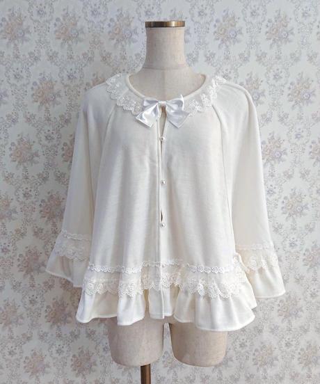 【Pina sweet collection】クラシカルローズポンチョ ホワイト