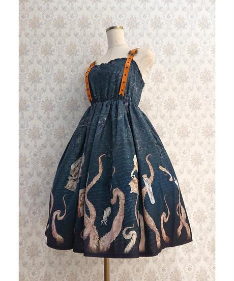 【Violet Fane】ヴァイオレットフェーン Sea Monsters ジャンパースカート  (Blue)