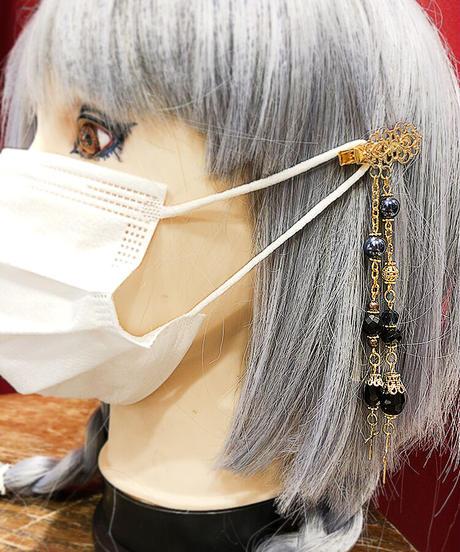 【Estrellas】エストレージャス マスク留め装飾/クロスドロップ/ゴールド×クリア