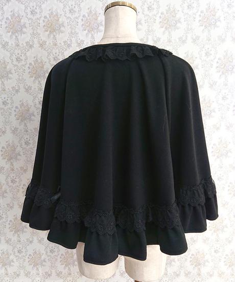 【Pina sweet collection】クラシカルローズポンチョ ブラック