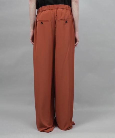 thin polyester wide pants/ORANGE