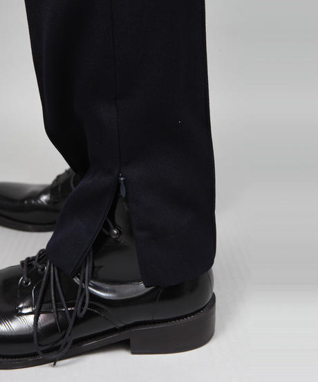 HEM ZIP SLIM PANTS/NAVY