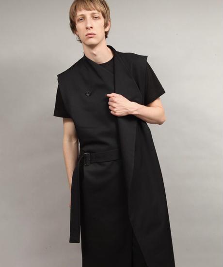 masculine vest/BLACK