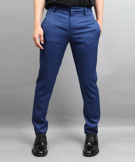 WOOL TWILL TAPERED PANTS BLUE