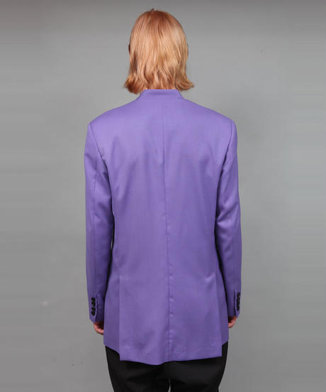 HOLLOW COLLAR JACKET/PURPLE