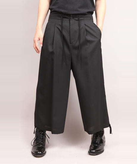DRAW CODE WIDE PANTS/NAVY