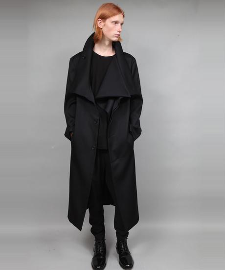 STAND COLLAR COAT/BLACK