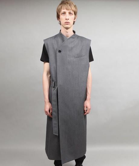 masculine vest/D.GRAY