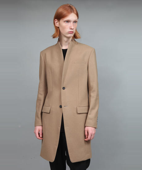 ENGLAND LAMB MELTON CHESTER COAT/BEIGE