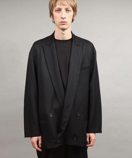 double breasted jacket/BLACK