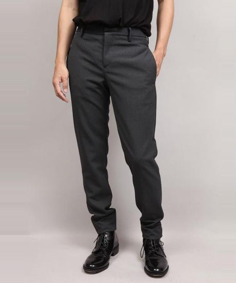 VINTAGE WOOL TAPERED PANTS/BLACK