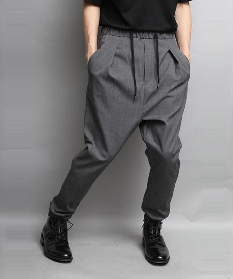 WOOL TWILL SAROUEL PANTS/GRAY