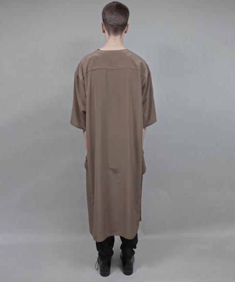 thin long t-shirt/L.KHAKI