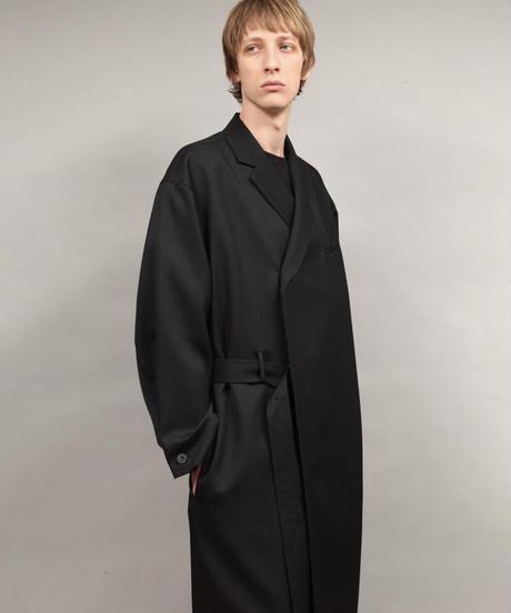 ulster coat/BLACK