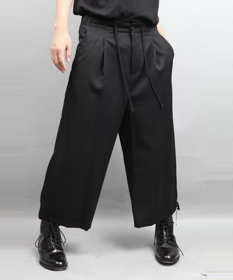 DRAW CODE WIDE PANTS/BLACK