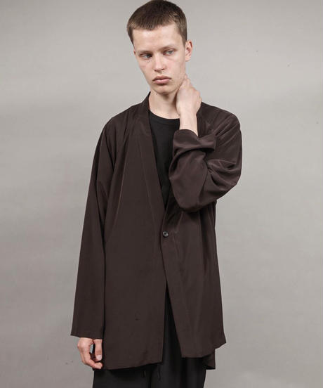 one button cardigan/D.BROWN