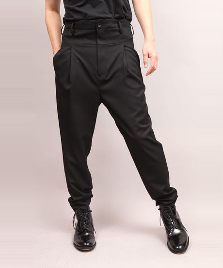 STRETCH TWILL PANTS/BLACK