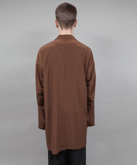 minimal shirt jacket/BROWN
