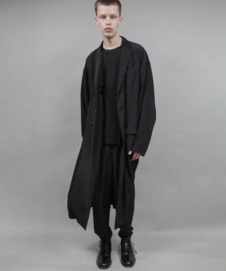 with the wind long jacket/BLACK