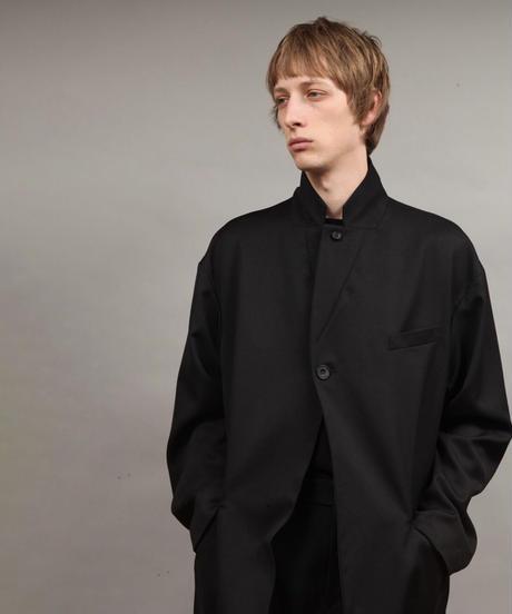 large silhouette jacket/BLACK