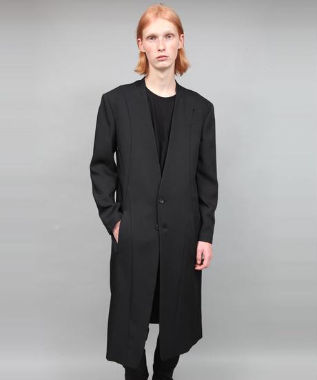 COLLARLESS COAT/BLACK