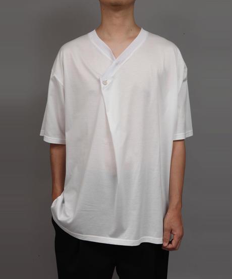 DRAPE V-NECK T-SHIRT/WHITE