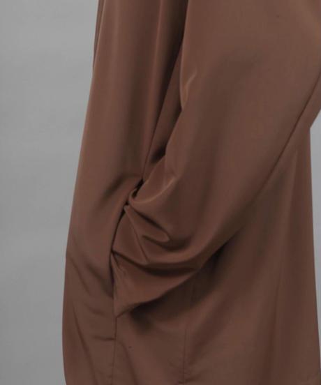 minimal shirt jacket/BROWN