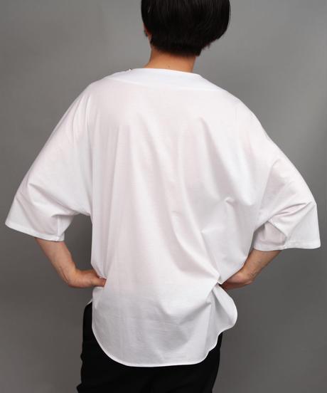 CLOTH BIG SILHOUETTE PULLOVER/WHITE