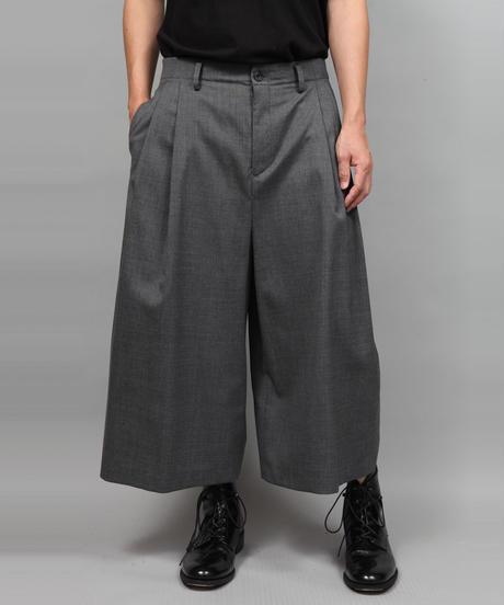 2TACK WIDE PANTS/GRAY