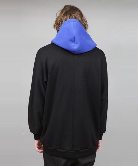 BIG SILHOUETTE HOODIE/BLUE
