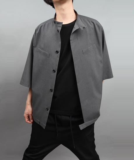 TROPICAL CLOTH SHIRT BLOUSON GLAY