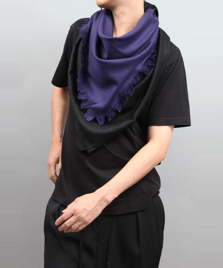 LAYERS OF SCARF BLACK×BLUE