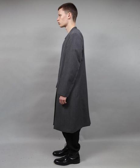 round neck coat/D.GRAY