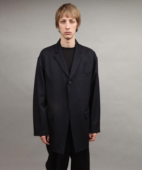 large silhouette jacket/NAVY
