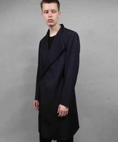 crease double short coat/NAVY