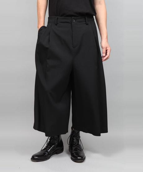2TACK WIDE PANTS/BLACK