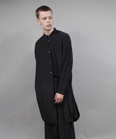 thin long shirt/BLACK