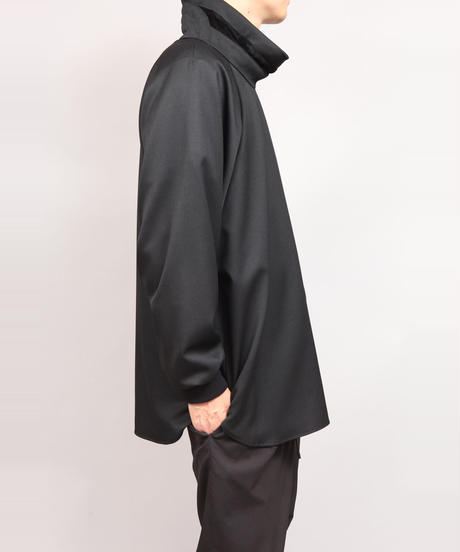 LUMANO TWILL PULLOVER SHIRT/BLACK