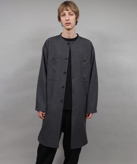 shop coat type shirt/D.GRAY