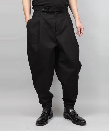 2TACK TAPERD PANTS/BLACK