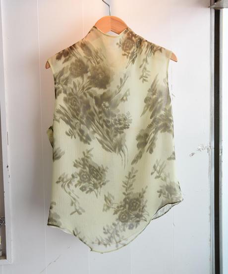 KENZO/back ribbon flower design tops.