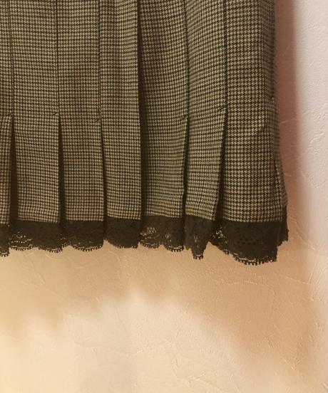 RED VALENTINO / vintage check mini skirt.